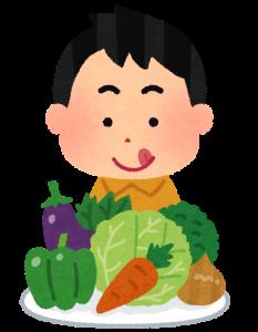 野菜を選ぶイラスト